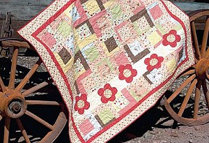 Flower Trail Quilt Kit in Tan by Riley Blake