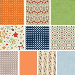 One For The Boys 10 Fat Quarter Set by Zoe Pearn for Riley Blake