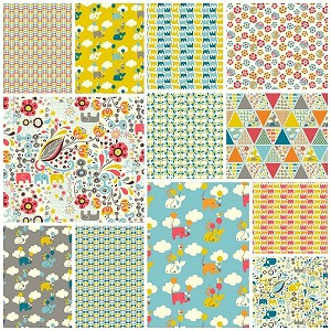 Frolic Organic 12 Fat Quarter Set by Rebekah Ginda for Birch