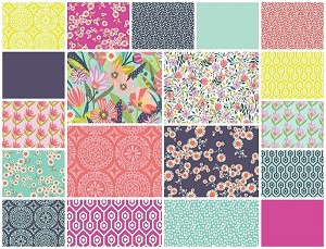 Garden Party Tango 19 Fat Quarter Set by Windham