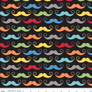 Geekly Chic C510-02 Black Mustache by Riley Blake