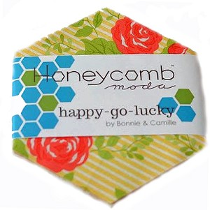 Happy Go Lucky Honeycomb by Bonnie & Camille for Moda