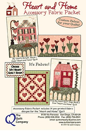 Heart and Home Accessory Fabric Packet