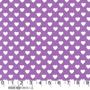 Hearts All Over CX5920 Purple by Michael Miller EOB .36