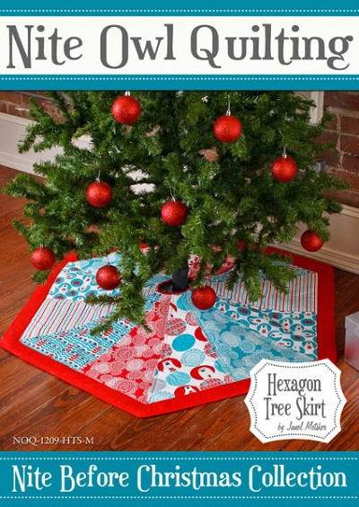 Hexagon Tree Skirt Pattern by Nite Owl Quilting