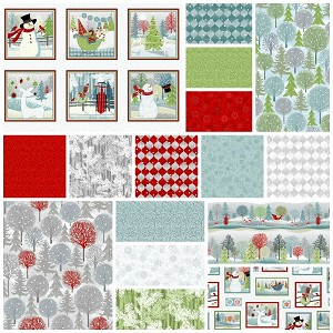 Holiday Cheer 15 Fat Quarter + Panel Set by Henry Glass