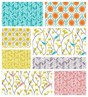 House & Garden Organic 8 Fat Quarter Set by Cloud 9