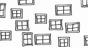 Illustrations 761-W Windows on White by P & B Textiles