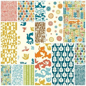 Ipanema Organic 15 Fat Quarter Set by Dennis Bennett for Birch