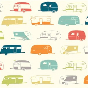 Just for Fun Organic Fun-05 Multi Camper Rally by Birch Fabrics
