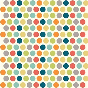 Just for Fun Organic Fun-01 Multi Dottie by Birch Fabrics