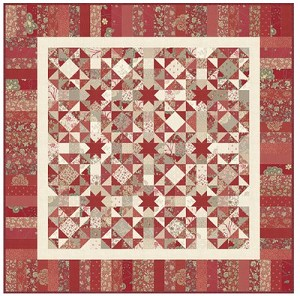Kaleidoscope of Stars Quilt Pattern by Planted Seed