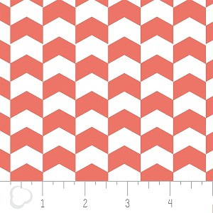 Kate 2141304-1 Grapefruit Chevron by Camelot Fabrics