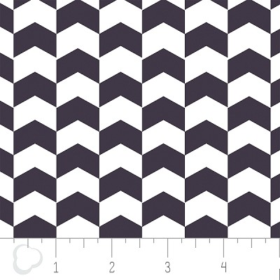 Kate 2141304-3 Indigo Chevron by Camelot Fabrics
