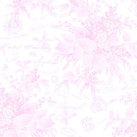 Sausalito Cottage LH13043 Baby Pink Floral Toile by Lakehouse