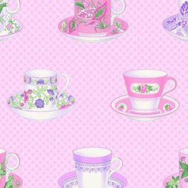 Sausalito Cottage LH13044 Pink Teacups by Lakehouse