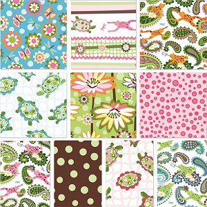 Lily Pond 10 Fat Quarter Set by In The Beginning