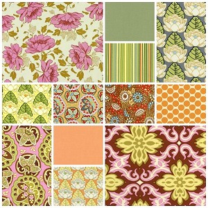 Lotus 12 Fat Quarter Set by Amy Butler for Westminster/Rowan