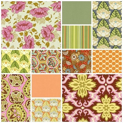 Lotus 11 Fat Quarter Set by Amy Butler for Westminster/Rowan