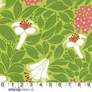 Lush DC5384 Grass Flower Bed by Patty Young for Michael Miller