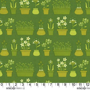Lush DC5385 Grass Flower Shop by Patty Young for Michael Miller