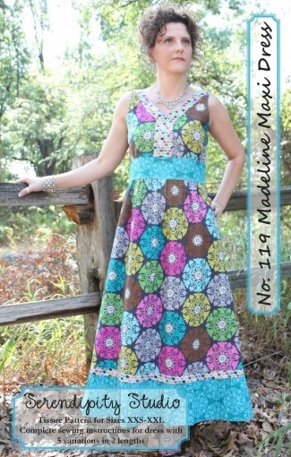 The Madeline Maxi Dress Pattern by Serendipity Studio