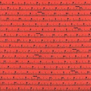 Made With Love 12704-13 Coral Tape Measure by Moda