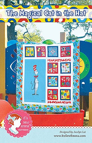 The Magical Cat in the Hat Quilt Pattern by It's Sew Emma