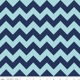 Chevron Medium C380-23 Navy Tonal by Riley Blake