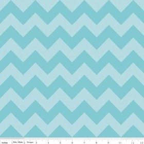 Chevron Medium C380-24 Aqua Tonal by Riley Blake