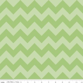 Chevron Medium C380-31 Green Tonal by Riley Blake