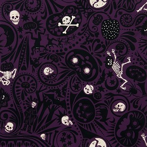 Midnight Muertos 7955-CR Prune by Alexander Henry