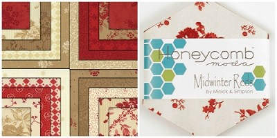Midwinter Reds Honeycomb by Minick & Simpson for Moda