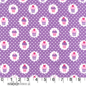 Mini Cupcakes CX5571 Purple by Michael Miller EOB