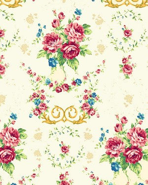 Elegant Roses QMS30752-14A in Cream by Kilala