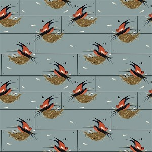 Charley Harper Nurture Organic CH-12 Barn Swallow by Birch