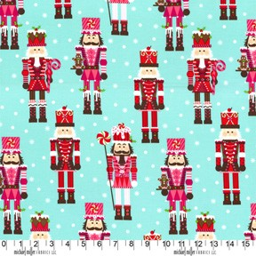 Nutcrackers CX5953 Aqua by Michael Miller