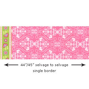 Ooh La La DC5205 Rose Single Border by Michael Miller EOB