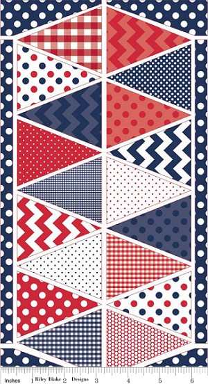 Holiday Banners P560 Blue Panel by Riley Blake