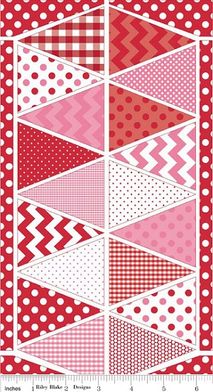 Holiday Banners P560 Red Valentine Panel by Riley Blake
