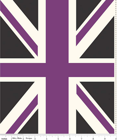 Union Jack DC571 Purple Panel by Riley Blake