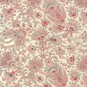Papillon 4077-11 Ivory Jacobean by 3 Sisters for Moda