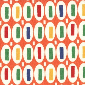 Pezzy Print 21605-20G Orange Multi by American Jane for Moda