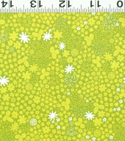 Picnic Pals Organic Y1003-18 Lt Green Small Floral by Clothworks