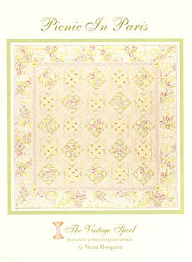 Picnic In Paris Quilt Pattern by The Vintage Spool