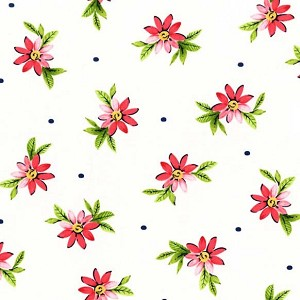 Delightful SG6147 Strawberry Playful Posies by Michael Miller