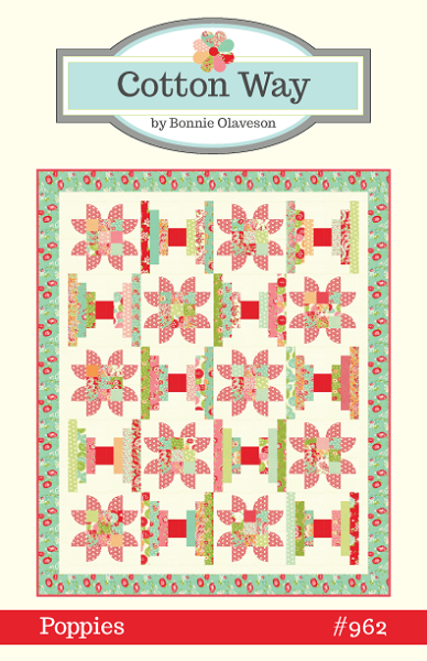Poppies Quilt Pattern by Cotton Way