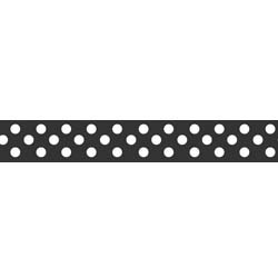 "Dots Grosgrain Ribbon 3/8"" Black by Riley Blake"