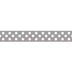 "Dots Grosgrain Ribbon 3/8"" Gray by Riley Blake"
