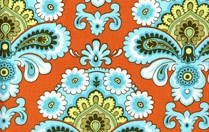Belle PWAB111 Orange French Wallpaper by Amy Butler